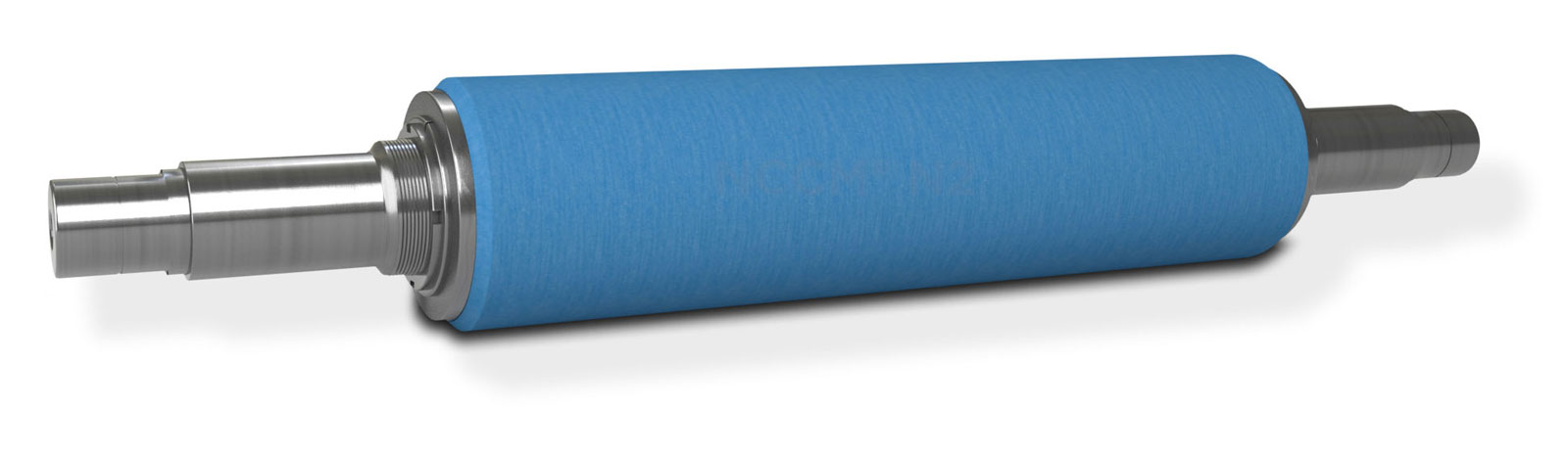 Perspective view of the NCCM<sup>®</sup> N2 nonwoven roll on a metal shaft