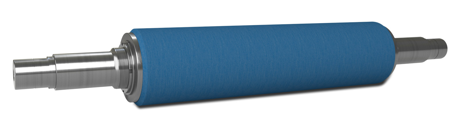 Perspective view of the NCCM<sup>®</sup> NS nonwoven roll on a metal shaft
