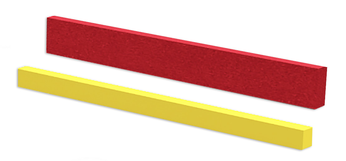 Perspective view of the V-Series, which includes a yellow NCCM<sup>®</sup> Mill Wipe and red NCCM<sup>®</sup> Wiper Bar II