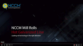 Hot Galvanized Line video introduction on dark background with light streaking through